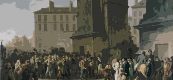 """Louis-Léopold Boilly, """"Les conscrits de 1807 défilant devant la porte Saint-Denis"""", [1808]"""