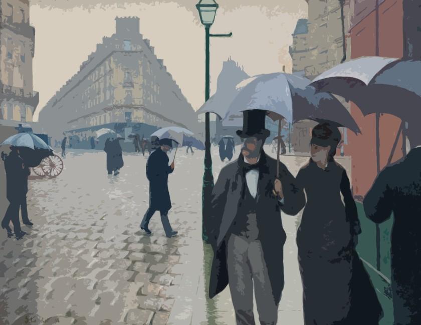"""Gustav Caillebotte, """"Rue de Paris, temps de pluie"""", 1877"""