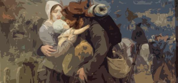 """Victor Prouvé, """"Le départ du soldat"""", XXe siècle"""