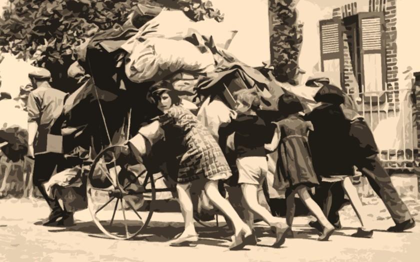 Scène de l'exode, mai-juin 1940, photographie