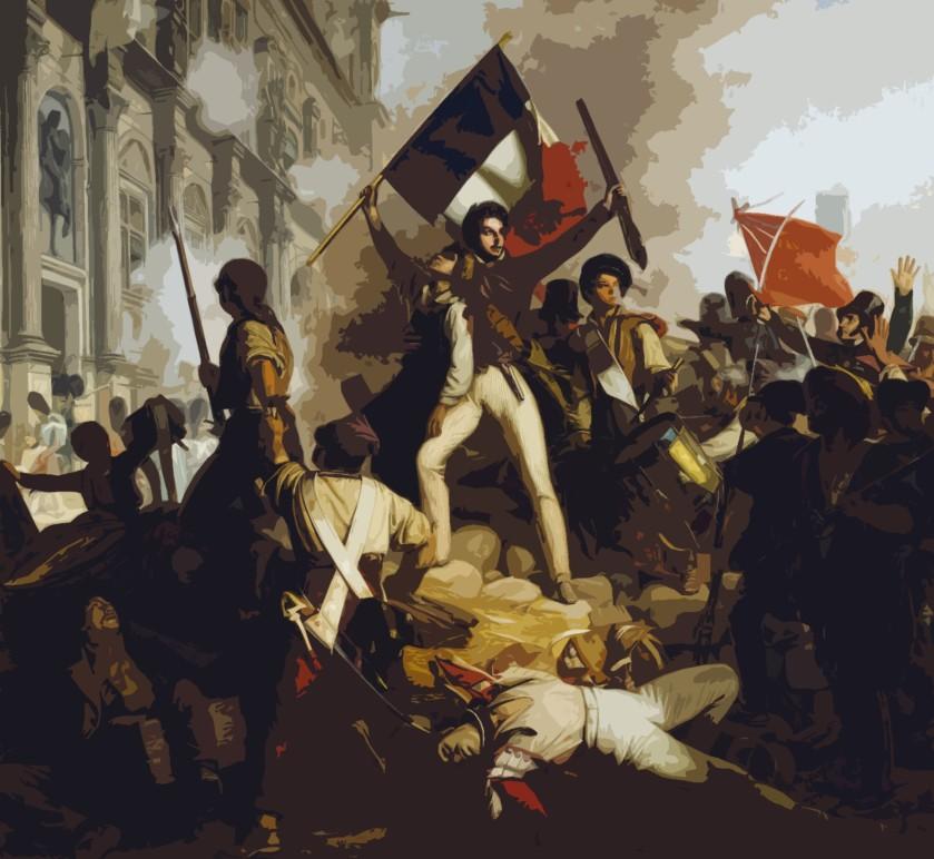 Jean-Victor Schnetz, Combat devant l'Hôtel de Ville, le 28 juillet 1830, huile sur toile, 1833
