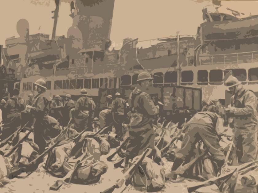 Débarquement des troupes françaises en Norvège
